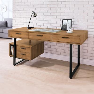 Boden-羅格5尺工業風五抽收納書桌/工作桌