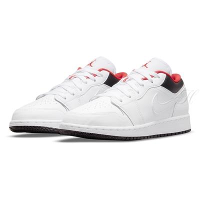 NIKE 休閒鞋  大童 運動鞋 AJ1 喬丹 女鞋 白紅黑 553560160 AIR JORDAN 1 LOW GS
