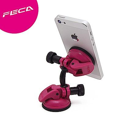 FECA非卡 無痕強力吸盤 360度旋轉萬用支架(桃紅)