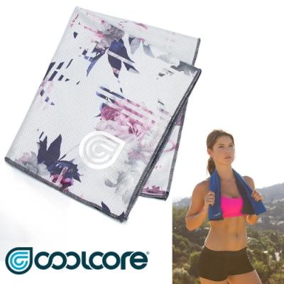 COOLCORE Chill Sport 涼感運動巾【印花系列 】白色數位花卉
