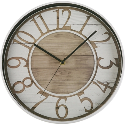 《VERSA》質感木紋掛鐘(30.5cm)