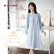 華歌爾睡衣-樂舒眠 M-L家居長裙(藍) 保暖羊毛 product thumbnail 1