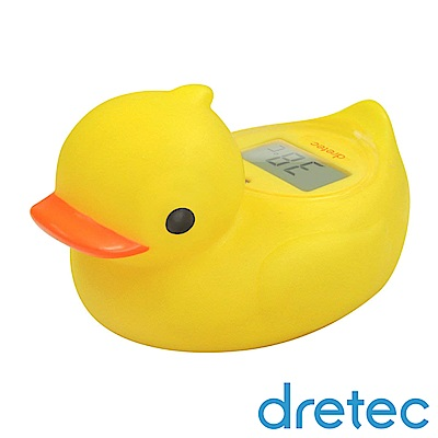 dretec 呱呱鴨可浮式湯溫計/溫度計/水溫計-黃色