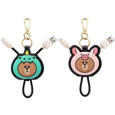 GARMMA LINE FRIENDS Apple Lightning皮革傳輸線