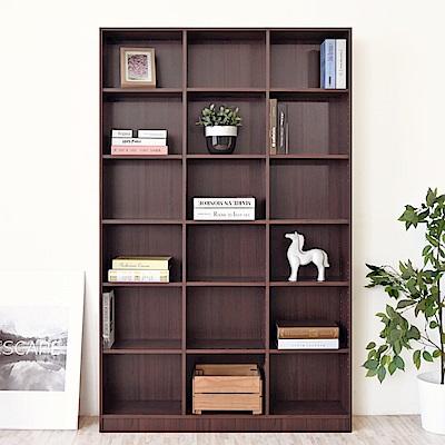 《HOPMA》DIY巧收十八格大空間書櫃-寬113 x深24 x高175cm