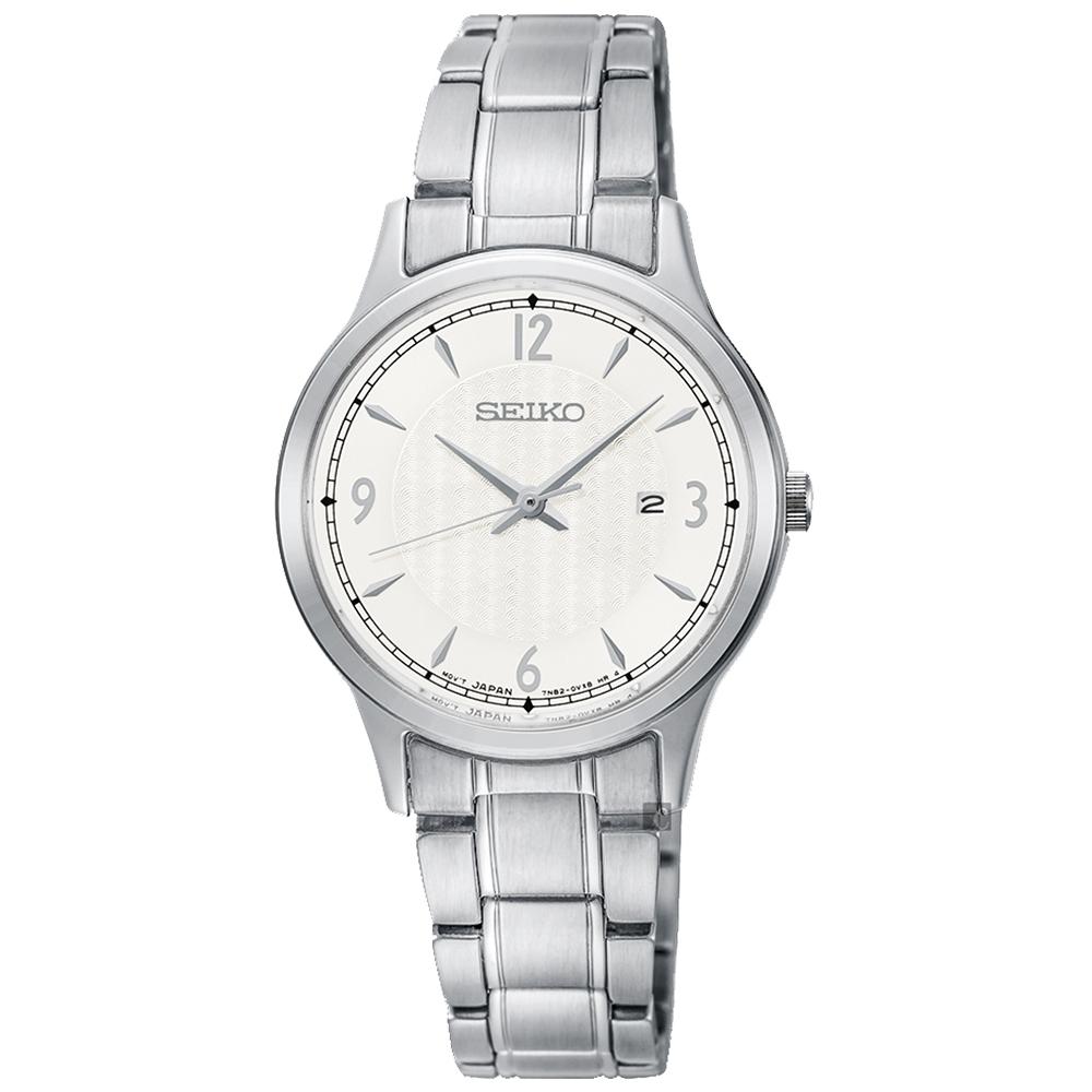 SEIKO精工   輕躍時尚簡約不鏽鋼女錶(SXDG93P1)-銀x29mm
