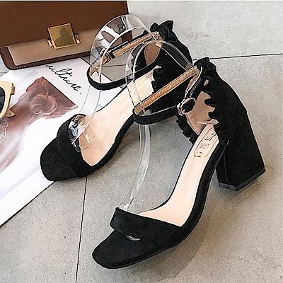 KEITH-WILL時尚鞋館 夏日必備氣質百搭粗跟鞋-黑色