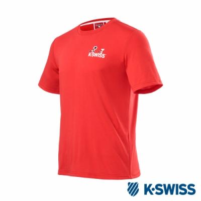 K-SWISS Classic Original SNOOPY短袖T恤-男女-紅