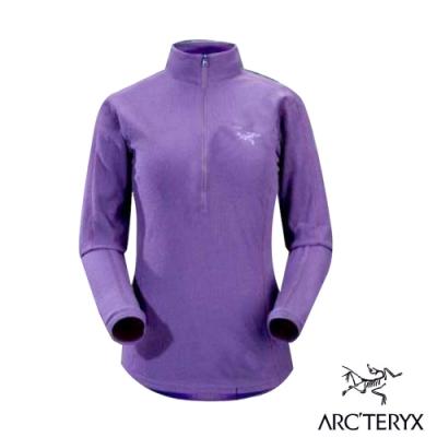 始祖鳥 Polartec女款 Delta LT Zip 羽量級保暖透氣半門襟薄刷毛衣_馬鞭紫-