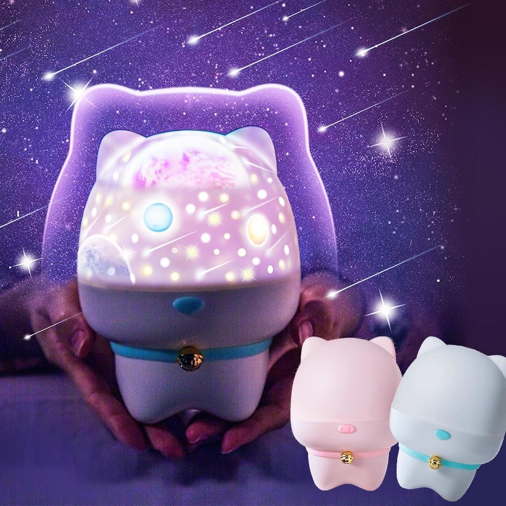 半島良品 浪漫寵物USB充電投影小夜燈 (2款)