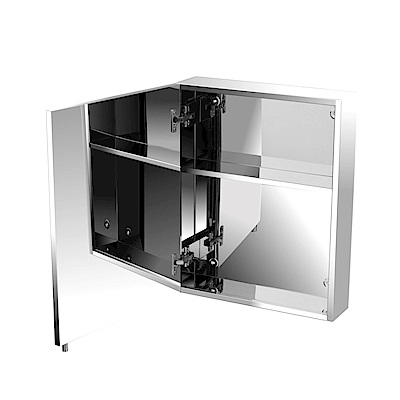 TRENY 浴室不鏽鋼單門鏡箱