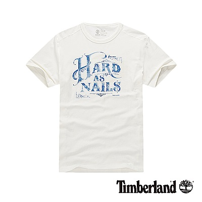 Timberland 男款白色圓領短袖T恤|8351J