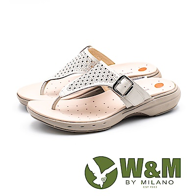 W&M 孔方兄與小碎花圓舞曲 健走健塑涼鞋 女鞋-白(另有土耳其藍)