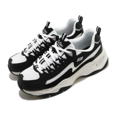 Skechers 休閒鞋 D Lites 4 厚底 女鞋 老爹鞋 膠底 防滑 穩定 修飾腿型 黑 藍 149491BKW