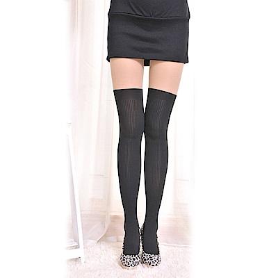 螺紋美法造形黑彈力絲襪褲襪子(下螺紋)   狐狸姬