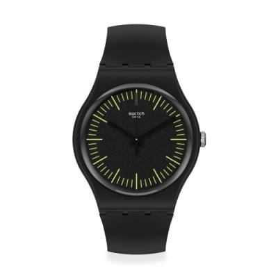 Swatch New Gent 原創系列 BLACKNYELLOW-41mm