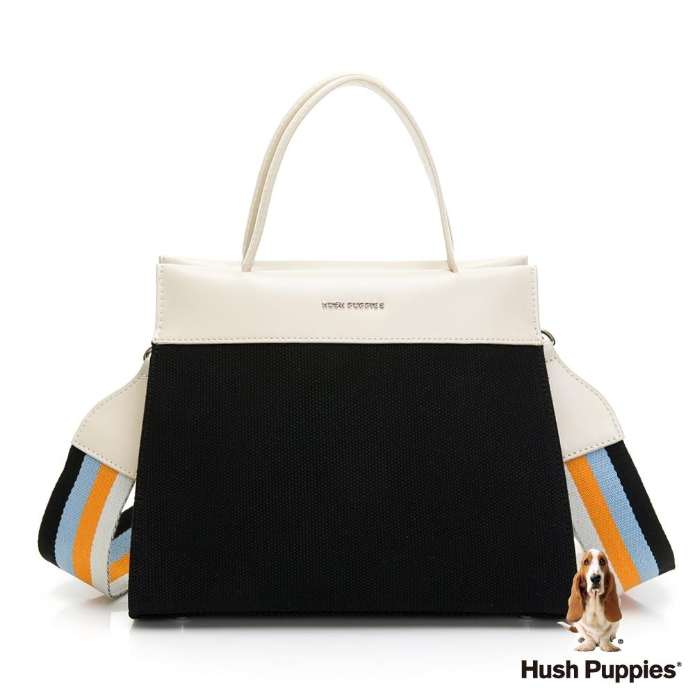 Hush Puppies 率性經典撞色背帶兩用包-黑