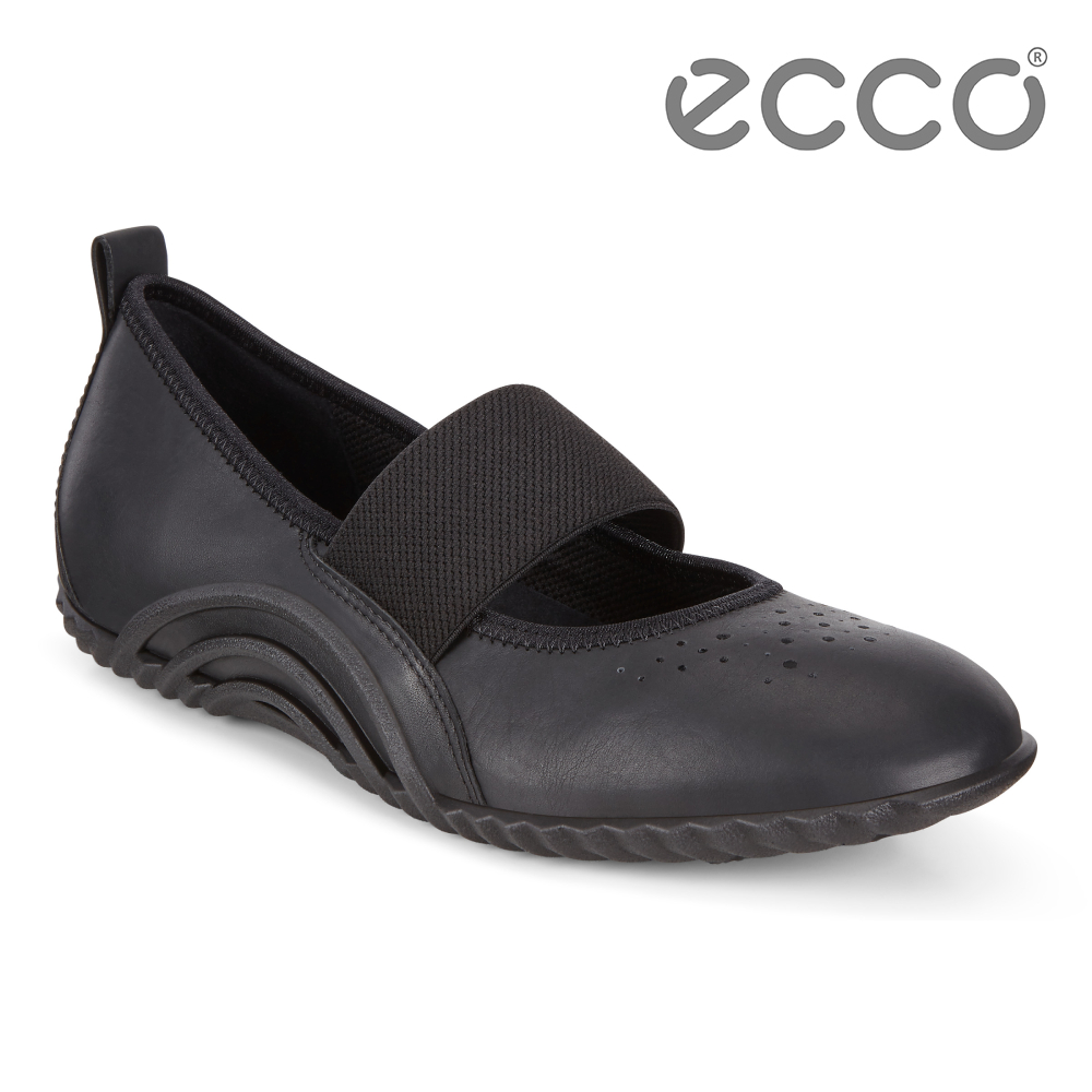 ECCO VIBRATION 1.0 活力運動風瑪莉珍休閒鞋 女-黑