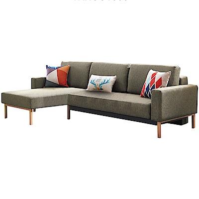 品家居 艾瑟伊緹花布L型沙發床組合-245x150x80cm免組