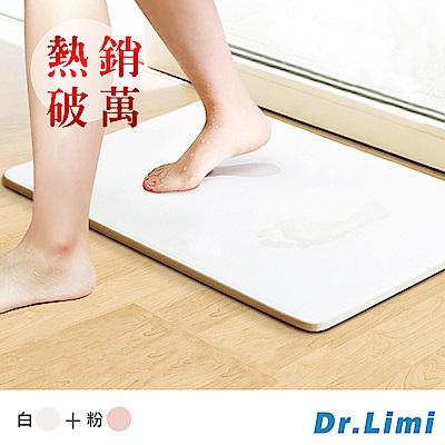 Dr.Limi 超吸水魔力珪藻土地墊-大(超值二入組)-白+粉