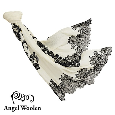【Angel Woolen】印度手工時間之耀cashmere蕾絲披肩