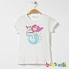 bossini女童-印花短袖T恤15灰白