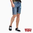 Levis 男款 牛仔短褲 上寬下窄 502 版型 刷破不收邊 重磅