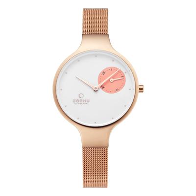 OBAKU 摩登女性奢華腕錶-玫瑰金-V201LDVWMV-O-32mm