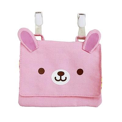 動物樂園可掛飾收納包。粉紅兔  UNIQUE