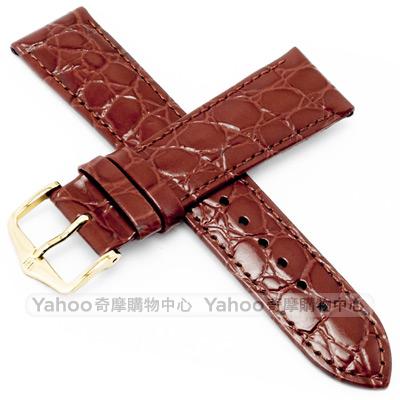 海奕施 HIRSCH Crocograin M 小牛皮手錶帶-棕