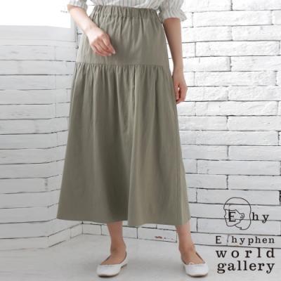 E hyphen  棉質分層式自然感長裙
