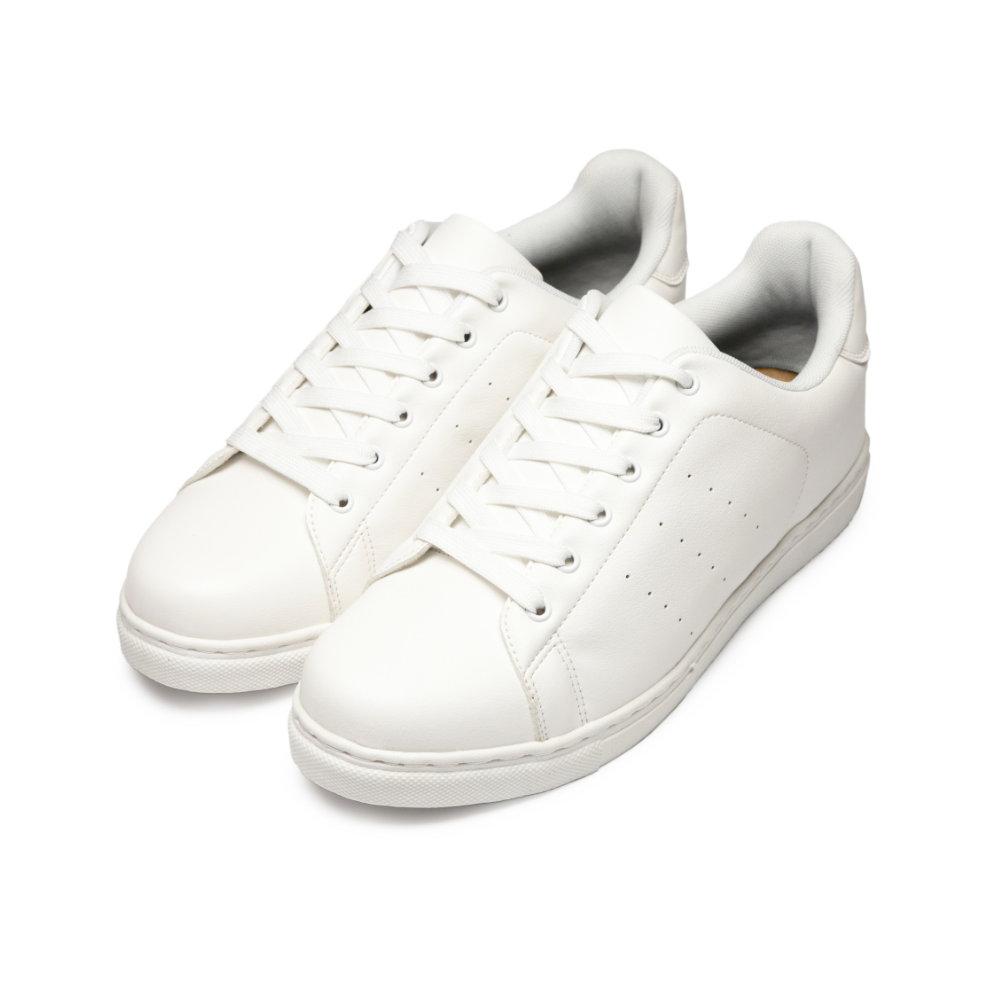 BuyGlasses 歐美LOOK簡約風小白鞋-白
