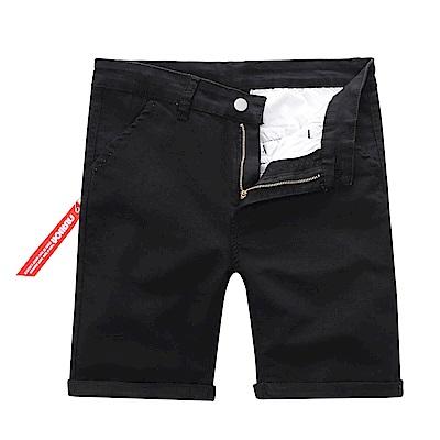 BuyGlasses 拉鍊標籤素面基本休閒短褲