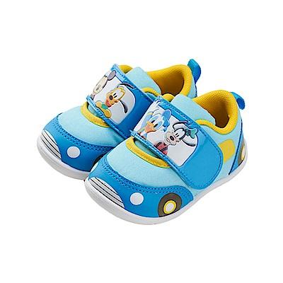 迪士尼童鞋 米奇家族 車車造型 學步鞋-藍