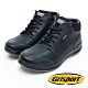 Grisport 義大利進口-綁帶厚底高筒休閒鞋-黑色 product thumbnail 1