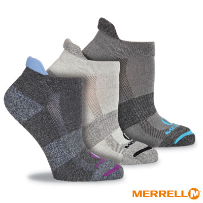 MERRELL 多功能運動襪組-黑色組(WF0117D00203)