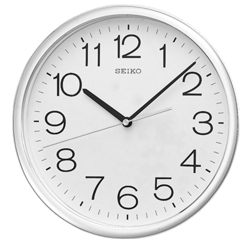 SEIKO 日本精工 銀框 標準型 辦公室掛鐘(QXA014S)31.1cm