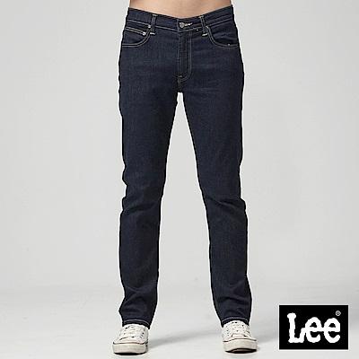 Lee中腰舒適小直筒牛仔褲-藍