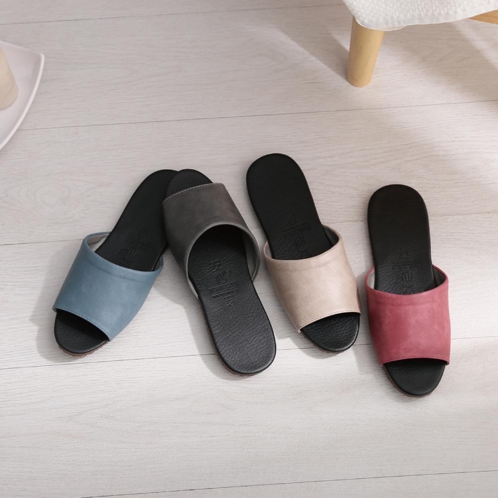 333家居鞋館 經典室內皮拖鞋