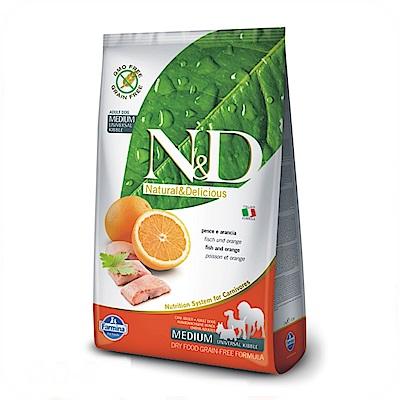 法米納 天然無榖糧 全齡犬 鯡魚甜橙 (潔牙顆粒) 7KG【GD-8】