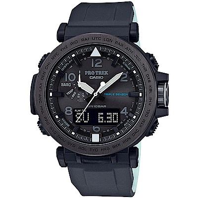 PROTREK 夜間戶外運動太陽能電波登山錶-黑/52mm