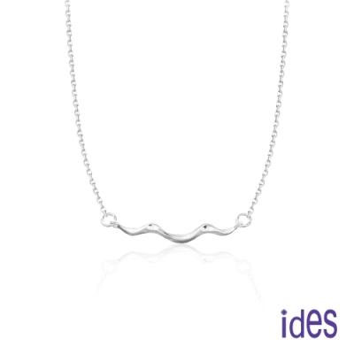 ides愛蒂思 日韓時尚設計純銀項鍊/波浪