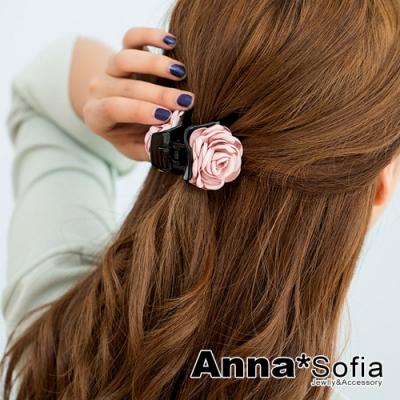 【滿額再7折】AnnaSofia 馨朵圓瓣 純手工髮抓髮夾(甜粉系)