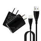 DVE×WUW加利王 iPhone 8pin  簡約動力USB 旅行充電組(1.2M)