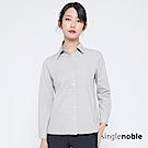 獨身貴族 知性年代方形拼接純色襯衫(2色)