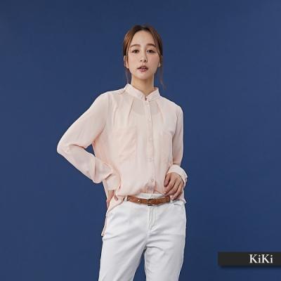 【KiKi】早春雪紡率性-襯衫(二色)