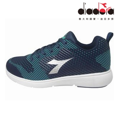 Diadora 女飛織輕跑鞋 藍 DA8AWR6706