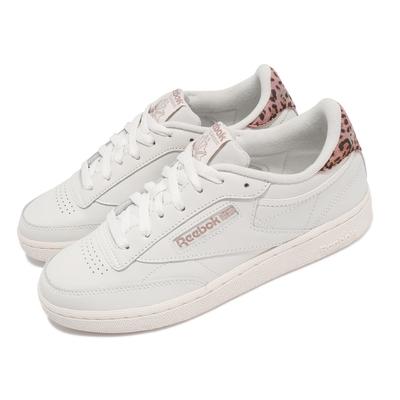 Reebok 休閒鞋 Club C 85 運動 女鞋 海外限定 舒適 簡約 球鞋 穿搭 米白 粉 H67805