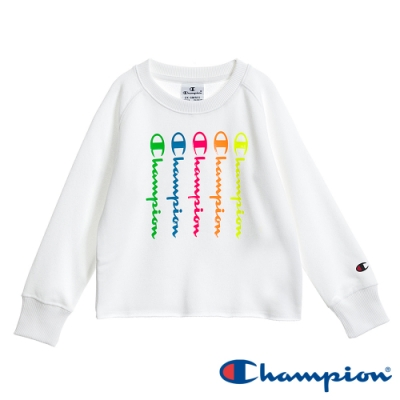 Champion EU童彩色草寫Logo長Tee 白色