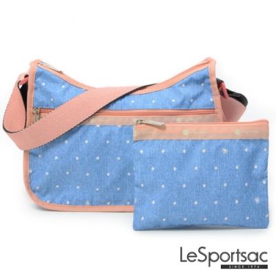 LeSportsac - Standard側背水餃包/流浪包-附化妝包 (牛仔點點)